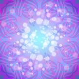 Abstraktes rosa-violettes rundes Muster mit Lichtern Lizenzfreie Abbildung