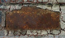 Abstraktes rostiges grunge Metallfeld Stockfotografie