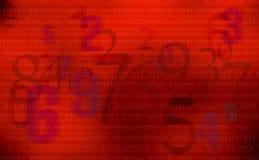 Abstraktes Rot nummeriert Hintergrund Stockfotografie