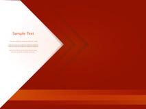 Abstraktes rotes BerichtsAbdeckung Schablone Design Lizenzfreies Stockfoto