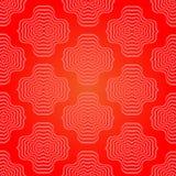 Abstraktes rotes geometrisches Retro- Muster Stockbilder