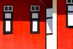 Abstraktes rotes Haus Lizenzfreies Stockbild