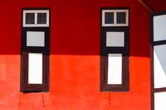 Abstraktes rotes Haus Lizenzfreies Stockfoto