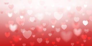 Abstraktes rotes Herz für Valentinsgrußhintergrund Vektor Illustratio Lizenzfreie Stockfotos