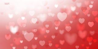 Abstraktes rotes Herz für Valentinsgrußhintergrund Vektor Illustratio Stockbild