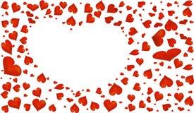 Abstraktes rotes Herzsymbol für Valentinsgruß ` s Tag Lizenzfreie Stockbilder