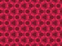 Abstraktes rotes kaleidoskopisches Muster Stockbild