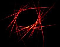 Abstraktes rotes Laserstrahlmuster Stockbild