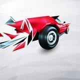 Abstraktes rotes laufendes Auto gemalt Lizenzfreie Stockfotografie