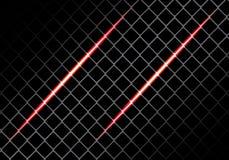 Abstraktes rotes Licht auf Technologie-Hintergrundvektor des quadratischen Maschendesigns modernem futuristischem Lizenzfreies Stockbild