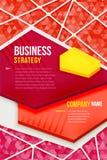 Abstraktes rotes Plakat mit Dreieckhintergrund Lizenzfreies Stockfoto
