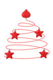 Abstraktes rotes Weiß des Weihnachtsbaums Stockbilder