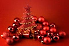 Abstraktes Rotweihnachten Stockfoto