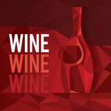 Abstraktes Rotwein-Konzept Stockfoto