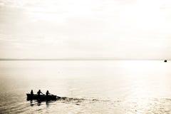Abstraktes Rudersport-Schattenbild Stockfotografie