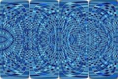 Abstraktes rundes blaues Mosaik Stockfotografie