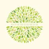 Abstraktes rundes Muster mit Blättern Lizenzfreies Stockfoto