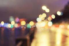 Abstraktes, schönes bokeh Licht der Stadt Lizenzfreies Stockfoto