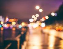 Abstraktes, schönes bokeh Licht der Stadt Stockbilder