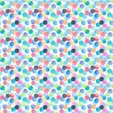Abstraktes schönes künstlerisches zartes wunderbares transparentes helles Blaues, grün, rot, rosa, gelb, orange, Marine kreist Mu lizenzfreie abbildung