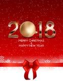 Abstraktes Schönheits-Weihnachten und Hintergrund des neuen Jahr-2018 Auch im corel abgehobenen Betrag lizenzfreie abbildung