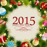 Abstraktes Schönheits-Weihnachten 2015 und neues Jahr vektor abbildung
