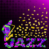 Abstraktes Schattenbild des Jazzspielers Lizenzfreie Stockfotos