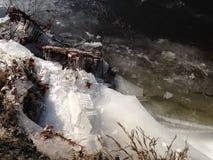 Abstraktes schmelzendes Eis Stockfotografie