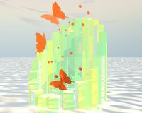 Abstraktes Schmetterlingsplakat Stockfotos