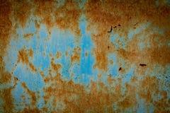 Abstraktes Schmutzfarbmetall und rustikaler Hintergrund und gemasert lizenzfreie stockbilder