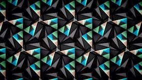 Abstraktes schwarzes blaues Grün und Weiß färbt Mustertapete Stockfotografie