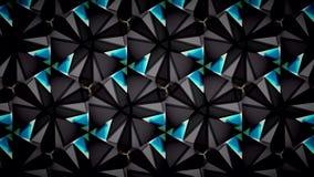 Abstraktes schwarzes blaues Grün und Weiß färbt Mustertapete Stockbild