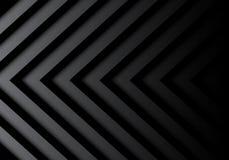 Abstraktes schwarzes graues Pfeilmuster im Schattenhintergrundvektor Lizenzfreie Stockfotos