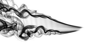 Abstraktes schwarzes Rauchmuster und -strudel Lizenzfreie Stockbilder
