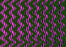 Abstraktes schwarzes rosa grünes Zickzackmuster Lizenzfreies Stockbild