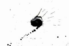 Abstraktes Schwarzes spritzt Stockfotografie