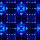 Abstraktes schwarzes und blaues Muster stockfotos