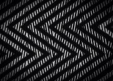 Abstraktes schwarzes Zickzackmuster Lizenzfreie Stockbilder