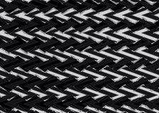 Abstraktes schwarzes Zickzackmuster Stockbild