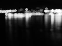 Abstraktes Schwarzweiss--bokeh und undeutlicher Hintergrund Lizenzfreies Stockbild