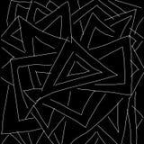 Abstraktes Schwarzweiss-Dreieckmuster als Illustrationshintergrund und -tapete stock abbildung
