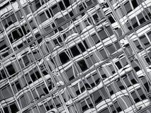Abstraktes Schwarzweiss-Glas Stockbilder