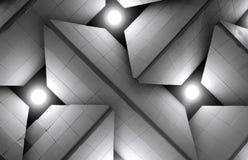 Abstraktes Schwarzweiss-Hintergrundenthalten von Quadraten Stockbilder
