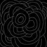 Abstraktes Schwarzweiss-Kreismuster als Illustrationshintergrund und -tapete vektor abbildung