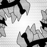 Abstraktes Schwarzweiss-Muster Stockfoto