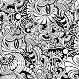 Abstraktes Schwarzweiss-Muster lizenzfreie abbildung
