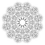 Abstraktes Schwarzweiss-Muster, Mandala Stockfotografie
