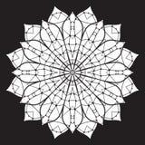 Abstraktes Schwarzweiss-Muster, Mandala Lizenzfreies Stockfoto