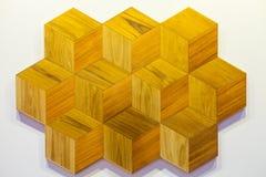 Abstraktes sechseckiges Fliesenmosaik-Hintergrunddesign Stockfoto