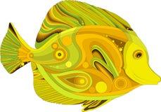 Abstraktes Seefisch Gelb Tang Stockfoto